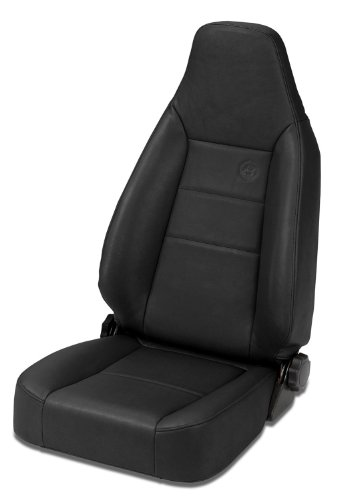 Bestop 39434-01 TrailMax II Sport Black Crush Front High Back All-Vinyl Single Jeep Seat for 76-06 Jeep CJ and Wrangler (Recliner Replacement Parts Bolt compare prices)