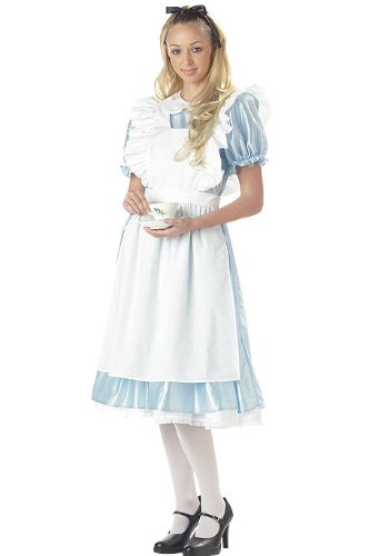 Classic Alice in Wonderland Costume - X-Large - Dress Size 12-14