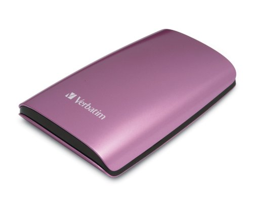 Verbatim 320 GB USB 2.0 Portable External Hard Drive 96824 (Pink)