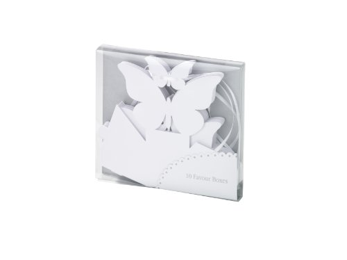 Talking Tables Something In The Air White 10-Pack Butterfly Favour Box, White