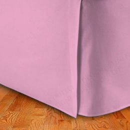 "300 Thread Count 100% Egyptian Cotton Solid Lavender King / California King 18"" Drop Length Bed Skirts front-859274"