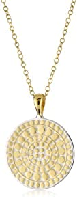 "Anna Beck Designs ""Lombok"" 18k Gold-Plated Divided Medallion Necklace, 16"" with 3"" Extender"