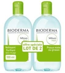 SEBIUM H2O 500ML LOT DE 2