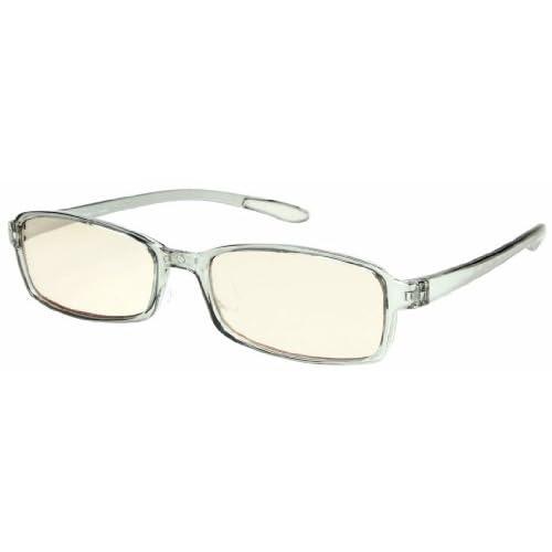 エニックス Sweeteye メラニングラス 老眼鏡度数 +1.50 スモーク クリアグレー