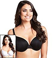 2 Pack Underwired Padded T-Shirt DD-G Bras