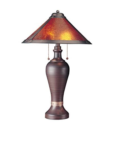 Bristol Park Lighting Table Lamp With Mica Shade, Rust