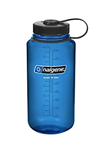 Nalgene BPA Free Tritan Wide Mouth Water Bottle, 1-Quart, Slate Blue