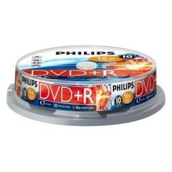 Philips DR4S6B10F/00 10 DVD+R Spindle 16x 120 min 4,7 Go