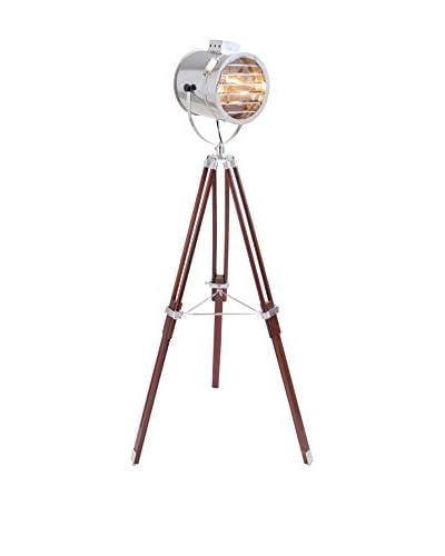 LumiSource Ahoy Floor Lamp, Chrome/Cherry