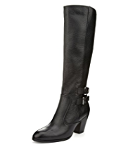 Autograph Premium Leather Double Buckle Boots with leather lining, Insolia® & Stretch Zip