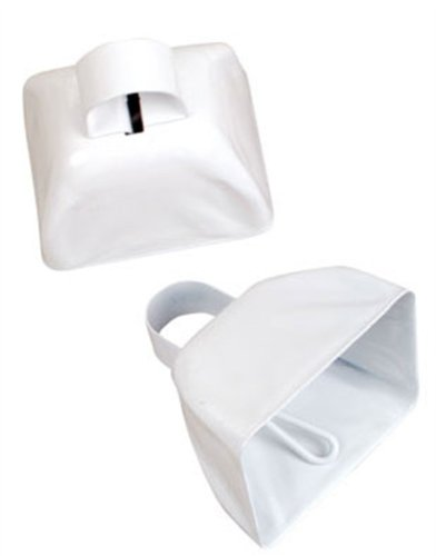 "Super Cool 3"" White Metallic Costume Accessory Cow Bell"