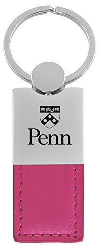 University of Pennsylvania-Leather and Metal Keychain-Pink (Upenn Merchandise compare prices)