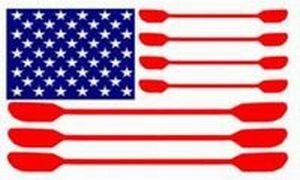 Image of **KAYAK FLAG** Kayaking Window Decal (B000M0KTUO)
