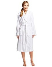 Per Una Pure Cotton Floral Velour Dressing Gown