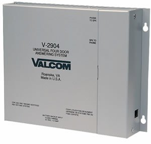 Valcom V-2904 4 Door Answering Device That Activates Door Locks