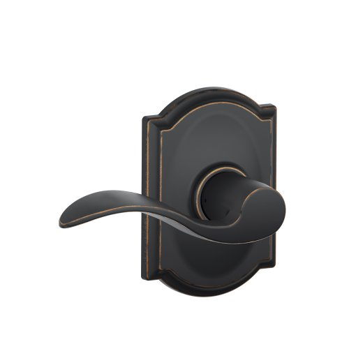 Schlage F10 Acc 716 Cam Camelot Collection Accent Passage Lever, Aged Bronze
