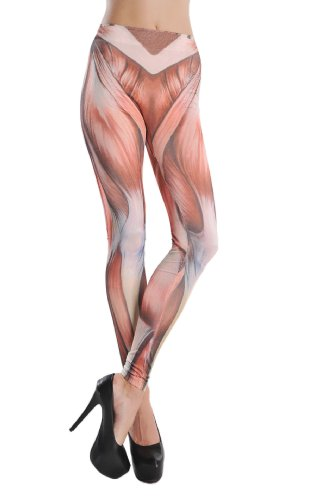Cool2Day Womens Unique Muscle Pattern Design Slim Leggings (Model: Yf010195)
