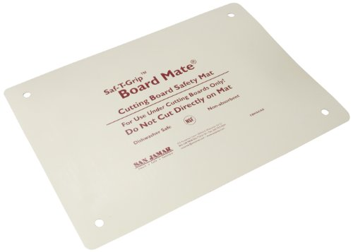 "San Jamar Cbm1318 Saf-T-Grip Board-Mate Nonslip Cutting Board, 18"" Width X 13"" Height"
