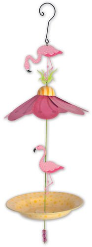 Sunset Vista Designs Flamingo Road Bird Feeder, 23.75-Inch
