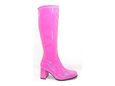 fancy dress pink knee high boots size 6 uk