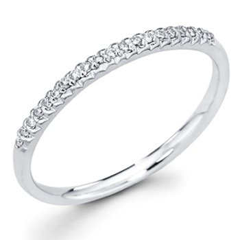 Where Can I Buy 14K White Gold Pave Set Round-cut Diamond Matching Band (0.1 CTW., G-H Color, SI1-2 Clarity) - Size 7.5
