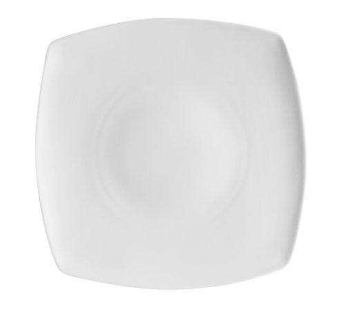 Cac China Rcn-Fs5 Porcelain Square Flat Plate, 6-Inch, Super White, Box Of 36
