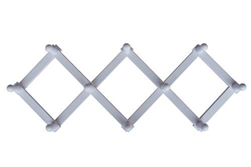 home-system-r21461-portabiti-appendiabiti-in-legno-a-10-posti-richiudibile-estensibile-legno-bianco