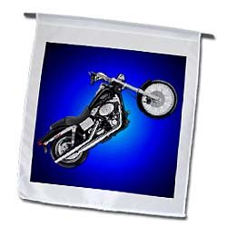 3dRose fl_ 3179_1 Picturing FXDWGI Dyna Wide Glide Motorcycle Flag