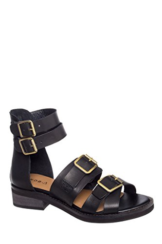 Twisted Low Heel Ankle Strap Sandal