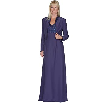 Formal Evening Mother of the Bride Groom Dress (7252P) Eggplant 12P