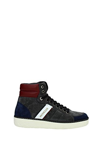 Sneakers Moncler Uomo Camoscio Grigio e Multicolor XCOM2015432779 Grigio 40EU