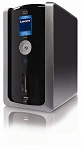 Linksys By Cisco Media Hub Home Entertainment Storage With 500 GB Drive,LCD And Flash Card Reader