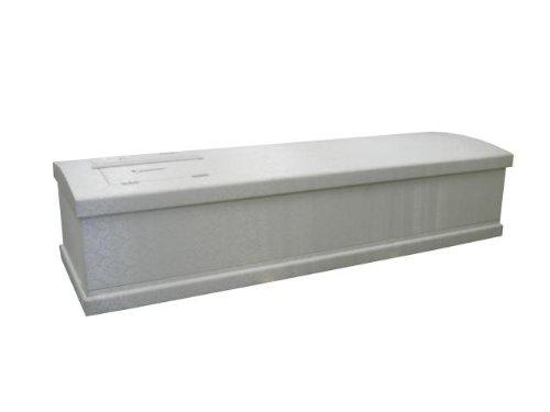 ワンタッチ 組立式 棺桶 / 布張 棺 / ホワイト / Lサイズ / 棺用 布団 枕 付き / 直葬 家族葬 密葬 / 冠婚葬祭研究所
