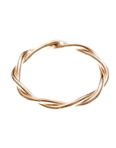 by boe Damen Ring gedreht Sterlingsilber, 18 Karat gold filled
