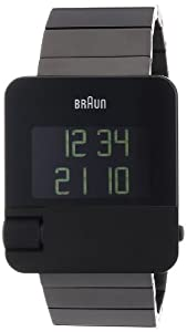 Braun Men's Prestige Digital Watch BN0106BKBTG With Black Plated Stainless Steel Case And Bracelet