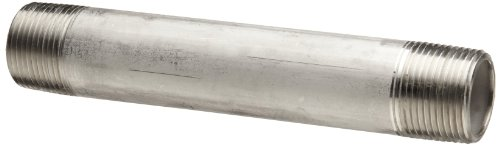 CAI Approved 3//8 x 9 316 Stainless Steel Nipple Threaded on Both Ends Pipe Schedule 40