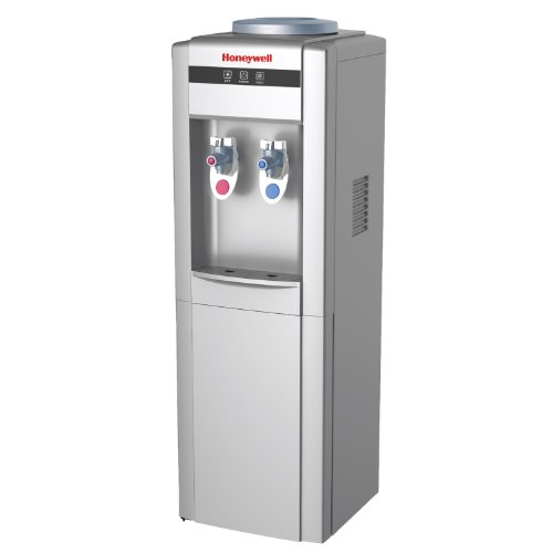 Honeywell HWB1052S Cabinet Freestanding Hot and Cold Water Dispenser with Stainless Steel Tank to help improve water taste and avoid corrosion, Child Safety Lock for Hot Water, Silver (Water Filter Cooler For Office compare prices)
