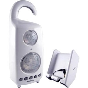 C2G / Cables To Go Audio Unlimited 900MHz Wireless Shower Speaker with Dual Power Transmitter, White (SPK-SHOWER2)