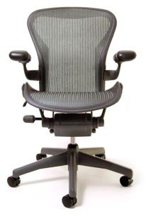 Aeron Chair - Basic by Herman Miller - Graphite Frame - Lead Classic Size A (Small)