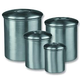 Old Dutch International Studio Steel Brushed Steel Canisters Set