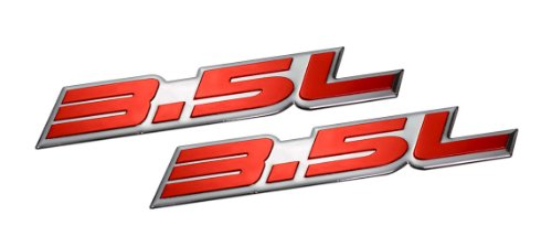 2 x (pair/set) 3.5L Liter Embossed RED on Highly Polished Silver Real Aluminum Auto Emblem Badge Nameplate for Dodge Intrepid RT SXT Avenger Challenger SE Magnum Charger Chrysler New Yorker LHS Sebring Concorde 300 300M Special Plymouth Prowler Eagle Vision Ford Taurus X SE Sedan Edge F-150 Fusion Sport Flex Explorer Ecoboost Pontiac G6 Lincoln MKX MKZ (Dodge Avenger Rt Badge compare prices)