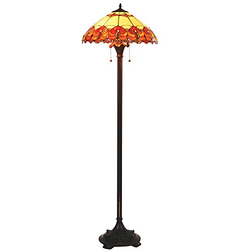 tiffany-orange-and-beige-tiffany-floor-lamp