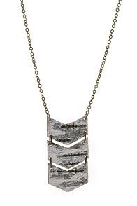 Imagine Jewelry Birch Chevron USA made Necklace