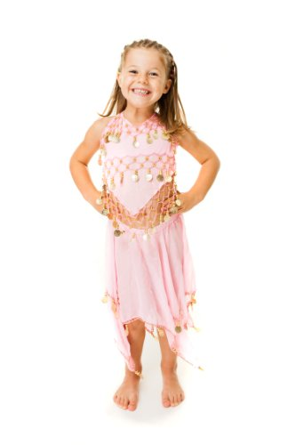 Children Kids Belly Dance Costume Fancy Dress Halloween Outfit Dress up Coins