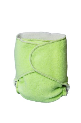 Kissaluvs Cotton Fleece Hybrid One Size Contour Diaper, Green front-596006