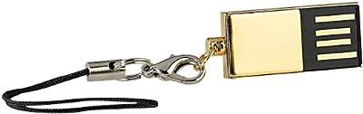 PConKey Slim USB-Speicherstick vergoldet, 16GB, wasserdicht
