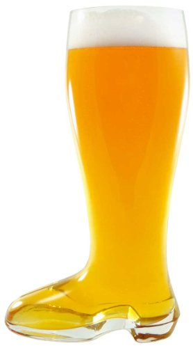 """Sehr Gut Boot"" 2 Liter Das Boot Blown Glass Beer Boot"
