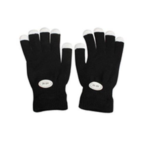 Vktech Flashing Gloves Glow 7 Mode LED Rave Light Finger Lighting Mitt Black