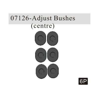 Redcat Racing Centered Adjustable Pin Mount Bushings (6 Piece) - 1