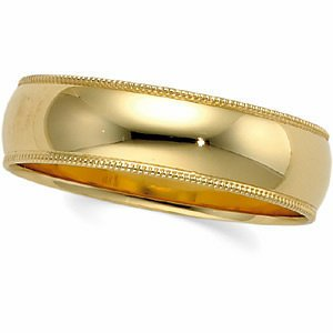 Genuine IceCarats Designer Jewelry Gift 10K White Gold Wedding Band Ring Ring. 04.00 Mm Light Milgrain Band In 10K Whitegold Size 4
